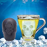 really cool shower heads yanQxIzbiu 3D Cool Skull Head Ice Cube Tray Chocolate Candy Mold Halloween Kitchen Tool - Black