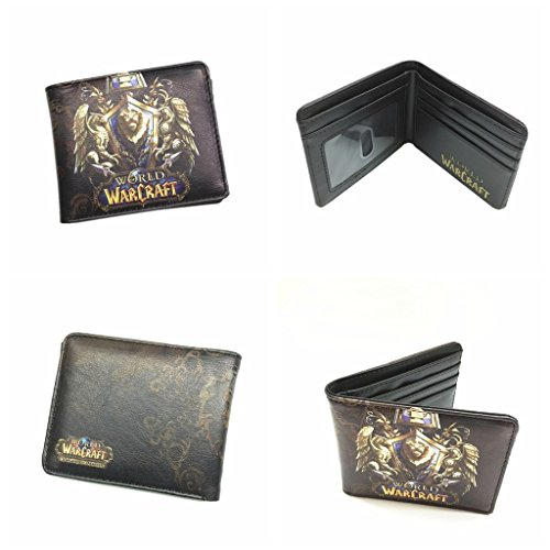 Blue Heron World of Warcraft Lion Crest WOW Bifold Men's Boys Wallet w/Gift Box