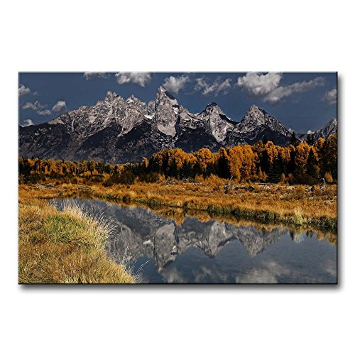 So Crazy Art Wall Art Painting Grand Teton National Park Mou