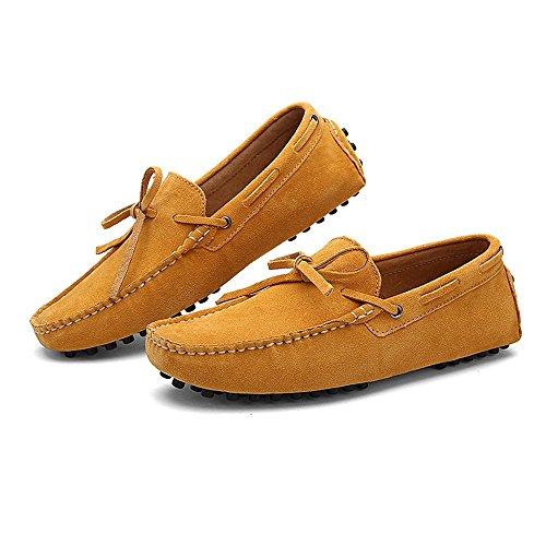 Dimensione shoes da Marrone 43 EU pelle Color Mocassini guida Scarpe leggeri Da in vera uomo da Mocassini Uomo Shufang 2018 TARq8wRd
