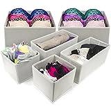 Sorbus® Foldable Storage Drawer Closet Dresser Organizer - 6 Piece Set (White)