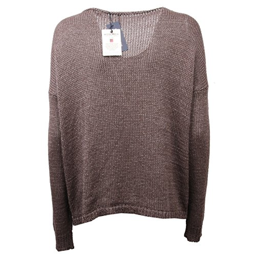 Woman Marrone Sweater New Maglia Shine Tape Woolrich C4726 Donna FPRUqx8