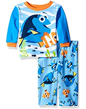 Disney Baby Boys' Finding Dory 2-Piece Fleece Pajame Set