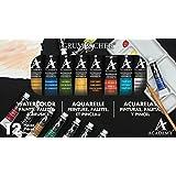 Grumbacher Academy Watercolor Paint, 7.5ml/0.25 oz. Tube, 10-Color Set