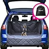 AHUKU Car Boot Liner Protector for Dogs with Bumper Flap, Sides and Pocket - Heavy Duty Waterproof Quilted Car Boot Cover