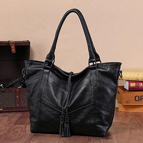 GUANGMING77 Borsetta Donna _ Inverno Bag Ladies Borsetta Tracolla,Nero black