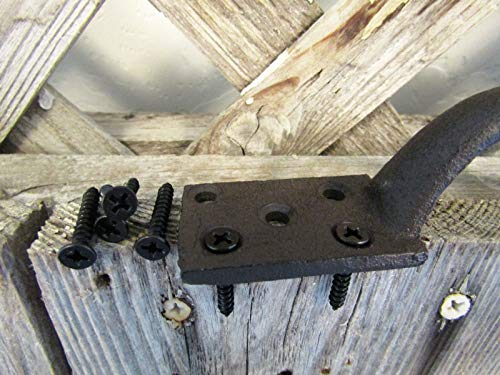 Big Sky Antiques Cast Iron Gate Pull Handle 6'' Rustic Brown by Big Sky Antiques (Image #5)
