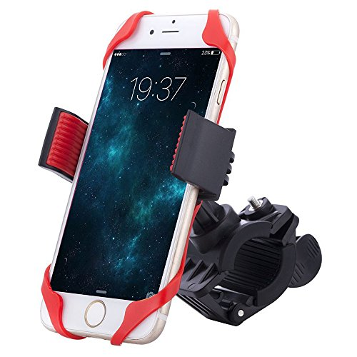COMSUN Bike Mount, Universal Adjustable Bicycle Cell Phone Holder Cradle Stand Motorcycle Rack Handlebar Smartphone GPS Navigation