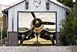 Garage Door Covers Door Single Plane Banner 3D Effect Print Decor Garage Full Color Airplane Billboard Mural Made in the USA Size 83 x 96 inches DAV161