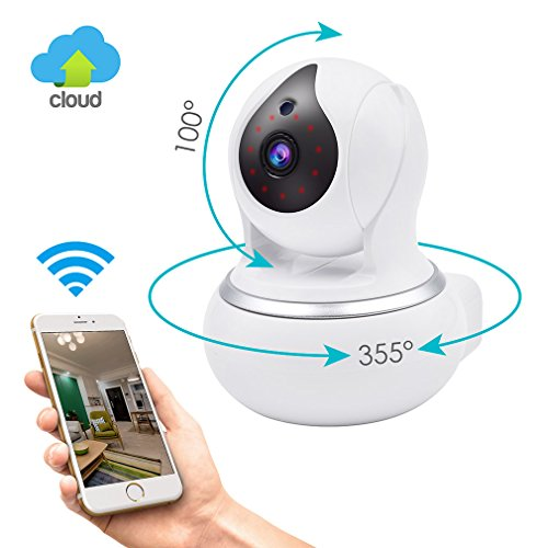 Wireless IP Security Camera, GERI WIFI Surveillance indoor camera baby room vision Pan/Tilt/Zoom System 720p HD Night Vision Cloud Service Available (Room Video)