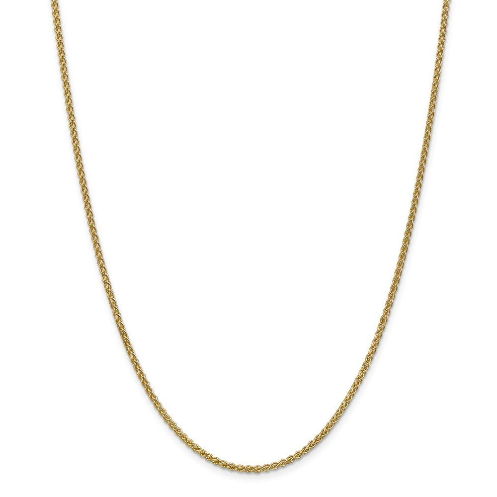 14k Spiga Chain Necklace in White Gold Yellow Gold Rose Gold Choice of Lengths 14 16 18 20 24 30 22 and Variety of mm Options