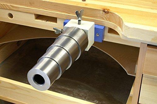 Bracelet Mandrel Holder and Stepped, Round, Steel Mandrel Kit - SFC Tools - KIT-0025