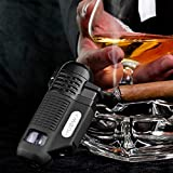 HUOWA 4 Jet Torch Lighter with Cigar Punch