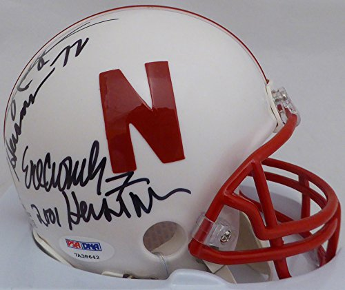Eric Crouch & Johnny Rodgers Autographed Nebraska Cornhuskers Mini Helmet Heisman Winners With Inscriptions PSA/DNA ITP #7A38642