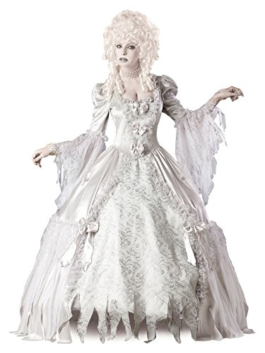 Lady White Ghost Costume (InCharacter Costumes Corpse Countess Costume, White,)