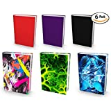 """Book Sox Stretchable Book Cover: 3x Jumbo & 3x Standard Size Value Pack. Fits Most Hardcover Textbooks up to 9"""" x 11"""". Adhesive-Free, Nylon Fabric School Book Protector. Easy to Put On Jacket."""