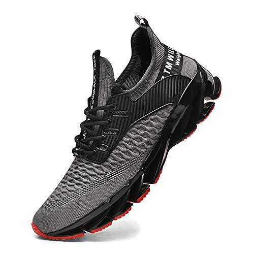 XIDISO Men Women Running Shoes Stylish Sneakers Mens Fashion Casual Walking Shoes Outdoor Running Blade Sneakers
