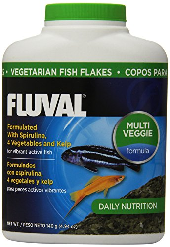 140gm Fluval Vegetarian Flakes Fish Food, 4.94-Ounce