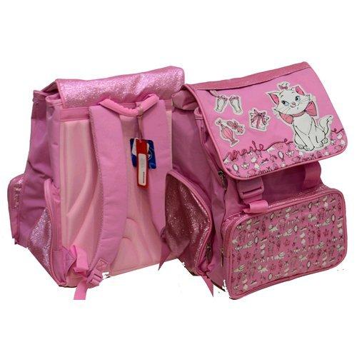 Rucksack erweiterbar Tasche Schule Disney Marie Pink Glitter cm. 42x 31x 21/29Sitzung DwjE8ajP