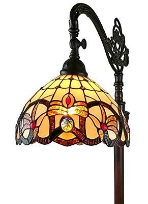 "Amora Lighting AM272FL11 Tiffany-Style Victorian Reading Floor Lamp, 62"""