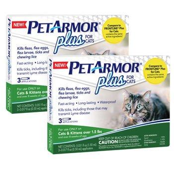Amazon.com: petarmor Plus para gatos 3 Mes Aplicación 2 ...