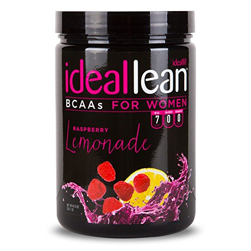 IdealLean, BCAAs For Women, Raspberry Lemonade - Build Lean Muscle Now with Branched Chain Amino Acid. Burn Fat with IdealLean's Fat Loss Blend. 0 Carbs, Sugars, and Calories, 30 Servings