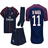 Kid / Youth Paris Saint-Germain PSG FC 2017 2018 17 18 Replica Home & Away Jersey of Neymar Jr, Cavani & Di Maria (Di Maria Home, Size 28 (11-13 Years Old))