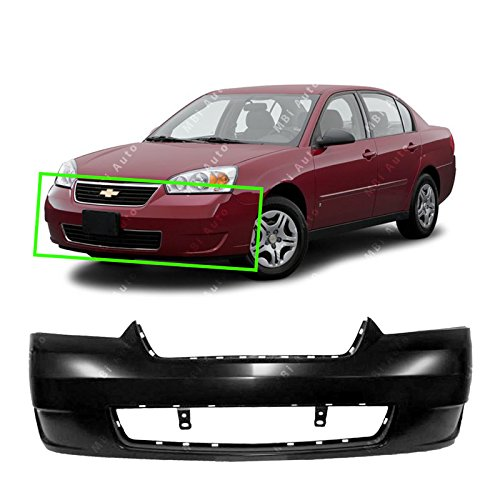 MBI AUTO - Primered, Front Bumper Cover Fascia for 2006-2008 Chevy Malibu LT LS MAXX 06-08, GM1000767 ()