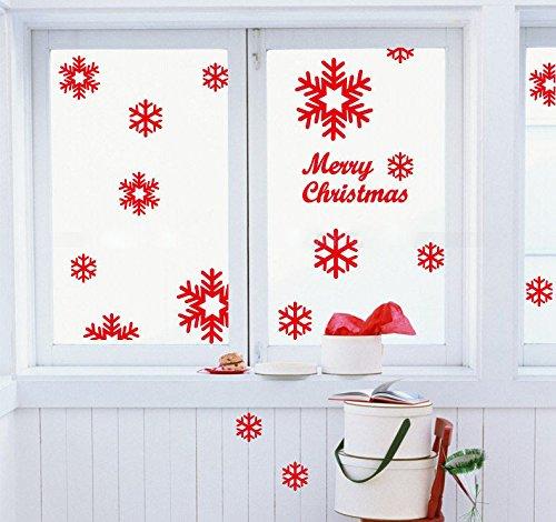 Christmas Tinsel Hanging Wall Decoration Snowman Flake Santa Hat Sock Xmas Windo