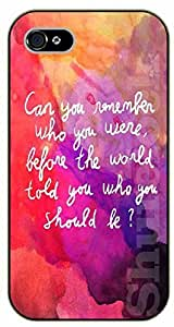 """iPhone 6 (4.7"""") Can you remember who you were, before the world told you who you should be - black plastic case / Life Quotes"""