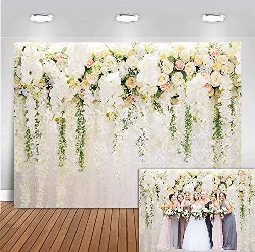 Fanghui 7x5FT 3D Rose Floral Photography Backdrops Wedding