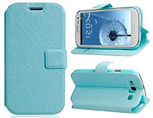 Silk Pattern Stand Faux Leather Flip Case for Samsung Galaxy S3/ I9300 (Green)