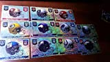 2014 Panini Stickers NFL Helmet Complete Set - All 32 Teams plus NFL Shield sticker - All Sparkle Foils - Includes Seahawks, Patriots, Packers, Colts, Ravens, Cowboys, Steelers, 49ers, Eagles, Giants, Redskins and the rest of the teams - Great gift idea