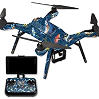 Skin For 3DR Solo Drone – Saltwater Compass | MightySkins Protective, Durable, and Unique Vinyl Decal wrap cover | Easy To Apply, Remove, and Change Styles | Made in the USA