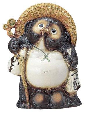 福来る 狸 タヌキ たぬき の置物20号 65cm 信楽焼