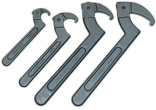 Armstrong Adjustable Hook Spanner Wrench - Armstrong 34-376 Hook Spanner Set (, 4 WrS)