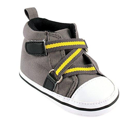 Luvable Friends Boy Zig Zag Hi-Top (Infant), Gray, 12-18 Months M US Infant - Hi Pre Shoes