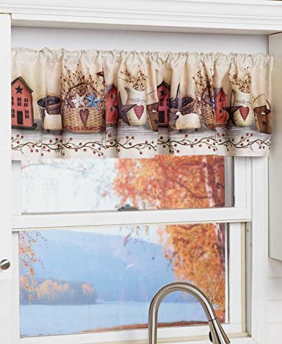 The Lakeside Collection Primitive Country Kitchen Window Valance