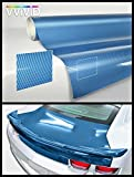 VViViD Blue carbon gloss Tech Art 17.75in x 60in 3 layer 3D (not printed) realistic True carbon fiber look cast vinyl wrap for car, boat, bike XPO