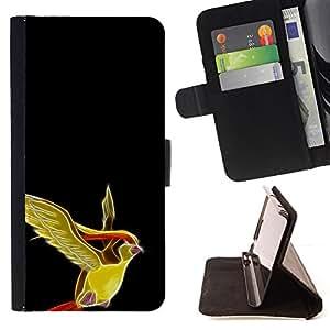KingStore / Leather Etui en cuir / Samsung Galaxy A3 / Pájaro Pekemin