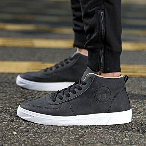 Lona de Planos Tobillos Hombres los Puro Zapatos en Otoño Zapatos clásicos Deportivos los de Mocasines de Color Verano Cordones con 2018 Ocasionales Negro qI8P8U1w