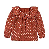 LOOLY Baby Girls Cotton Linen Blend Long Sleeve