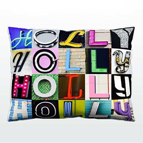 Personalized Pillow featuring the name HOLLY in sign letter photos (12