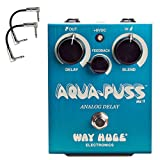 Dunlop WHE701 Way Huge Electronics Aqua-Puss Analog Delay Guitar Effect Pedal WHE701 with 2 patch cables