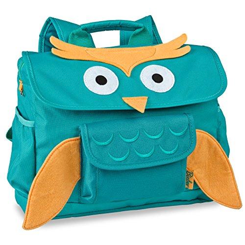 bixbee-animal-pack-owl-kids-backpack-small-green