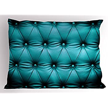 Amazon.com: Ambesonne Turquoise Pillow Sham, Buttoned