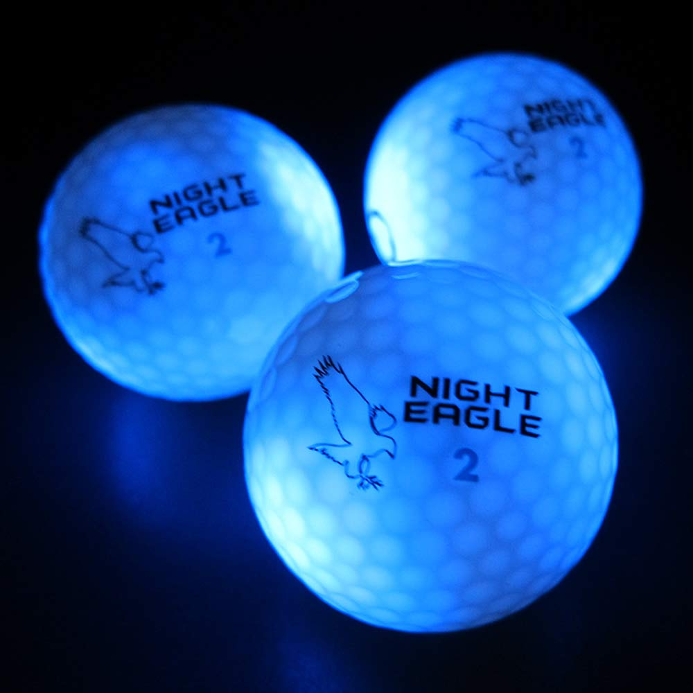 Night Eagle Light Up LED Golf Balls - 6 Ball Pack (Blue) by Night Eagle