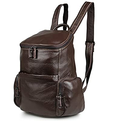 YAAGLE Vintage Ladies Genuine Leather Shoulder Bag Backpack for Women Girls