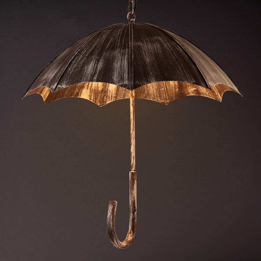 GJZM Lámpara de araña Creativa con Forma de Paraguas Retro, lámpara Colgante Industrial Loft de Arte de Hierro Forjado para cafetería Restaurante Bar