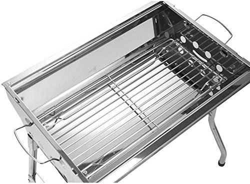SHJR Acier Pliage Gril Charbon extérieur INOX Outils de Barbecue Portable Pas de poignée d'installation Grille de Cuisson Cuisson Pique-Nique de Camping Grill